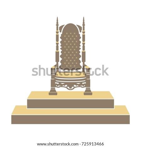 royal throne vector illustration