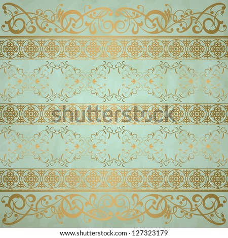 Royal vintage damask vector background