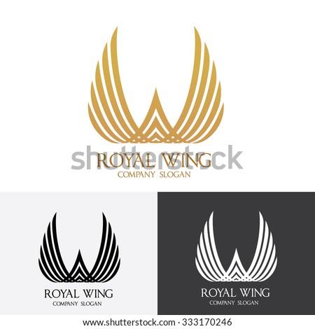 Royal Wing  logo Vector Template