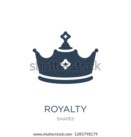 royalty icon vector on white background, royalty trendy filled icons from Shapes collection, royalty vector illustration