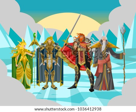 rpg videogame fantasy party warriors in ice land