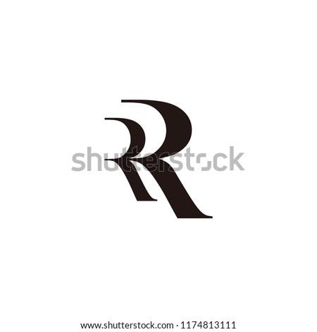 rr letter vector logo