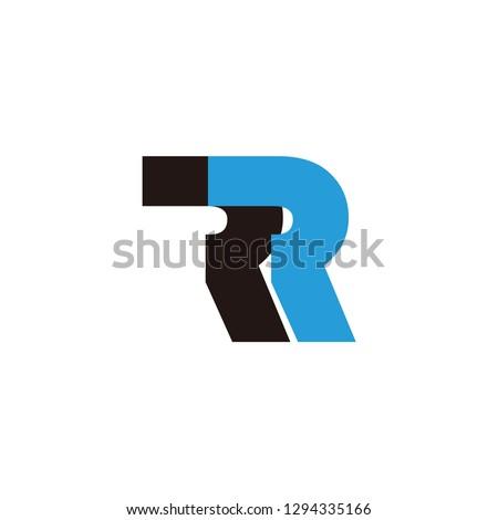rr letter vector logo. r letter vector logo