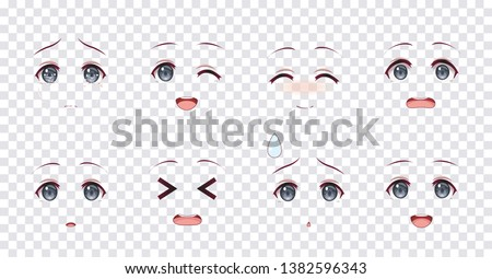 rreal cartoon blue eyes of