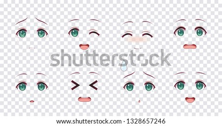 rreal cartoon green eyes of