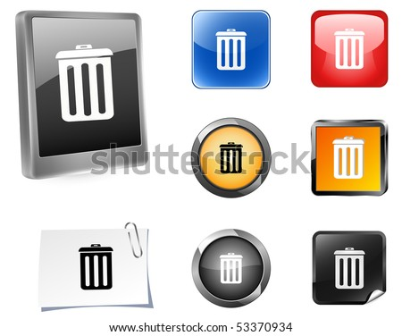 Rrecycle buttons. Vector illustration
