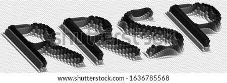 RRSP abbreviation - 3D brick word - Registered retirement savings plan concept  illustration