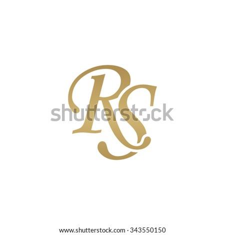 rs initial monogram logo
