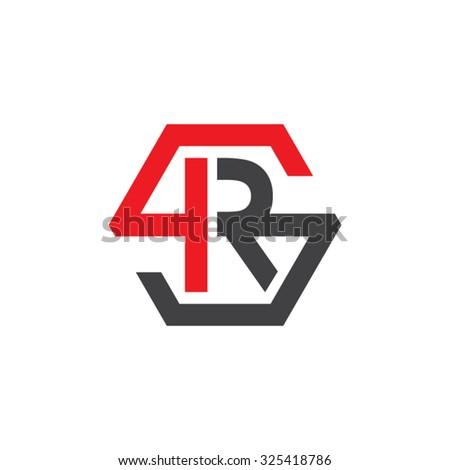 rs sr initial logo  hexagon s