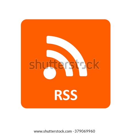 RSS feed icon for web and mobile