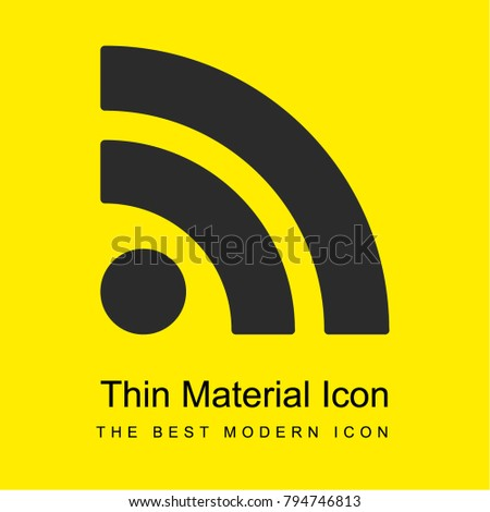 RSS feed symbol bright yellow material minimal icon or logo design