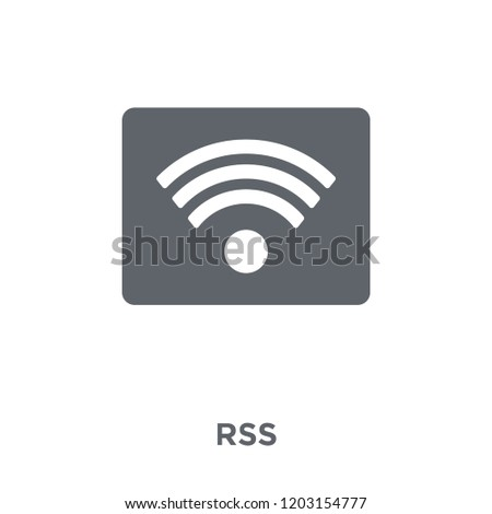 Rss icon. Rss design concept from  collection. Simple element vector illustration on white background.
