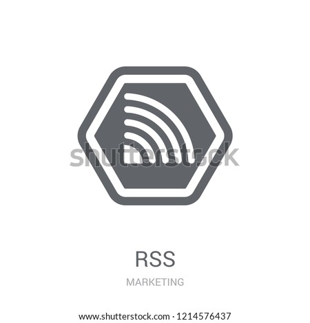 Rss icon. Trendy Rss logo concept on white background from Marketing collection. Suitable for use on web apps, mobile apps and print media.