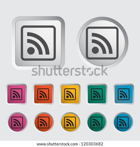 Rss icon. Vector illustration.