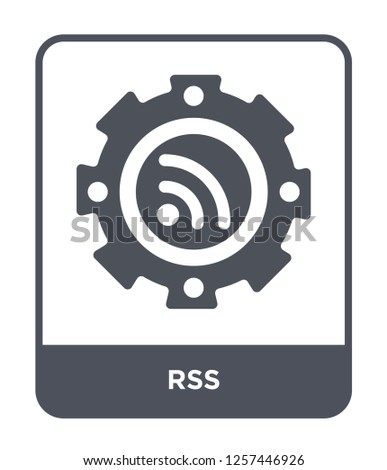 rss icon vector on white background, rss trendy filled icons from Marketing collection