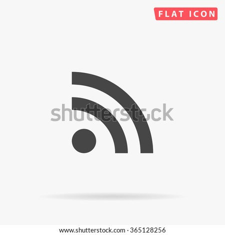 RSS Icon Vector. Simple flat symbol. Perfect Black pictogram illustration on white background.