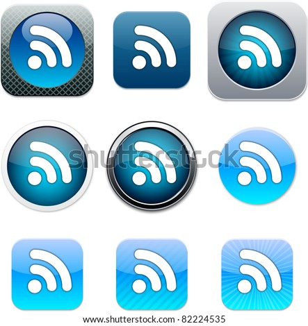 Rss Set of apps icons. Vector illustration.