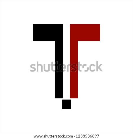 rTr, jTj initials geometric letter company logo