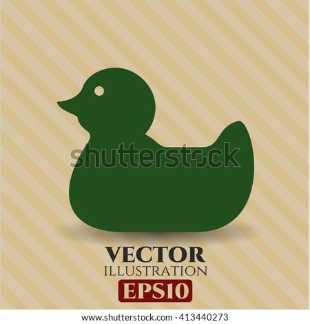 Rubber Duck icon vector illustration