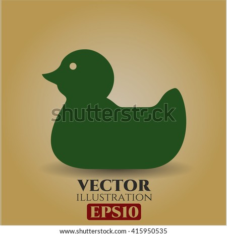 rubber duck icon vector symbol flat eps jpg app web