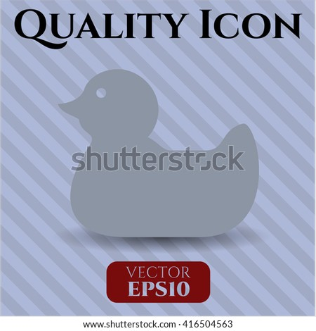 rubber duck icon vector symbol flat eps jpg app web
