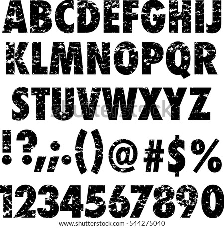 Rubber Stamp Alphabet And Numbers Global Colors Used
