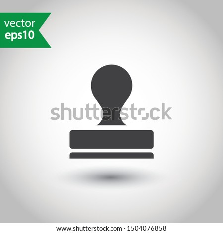 Rubber stamp icon. Stamp vector icon. Stamp sign design. Flat Pictogram. EPS 10