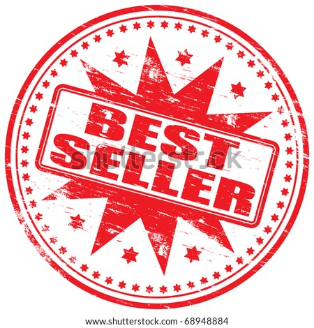 "Rubber stamp illustration showing ""BEST SELLER"" text"