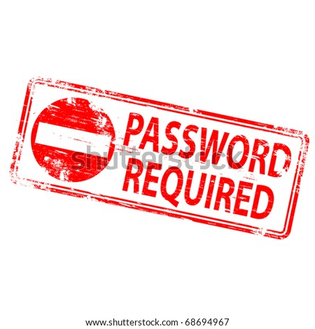 """Rubber stamp illustration showing """"PASSWORD REQUIRED"""" text"""