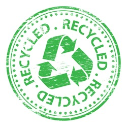 Rubber stamp illustration showing