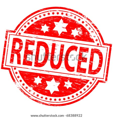"Rubber stamp illustration showing ""Reduced"" text"