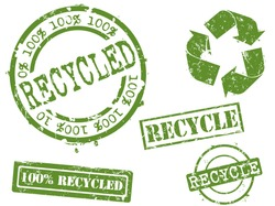 Rubber stamp series..recycling