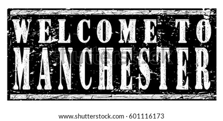 Rubber Stamp Welcome To Manchester Vector Illustration