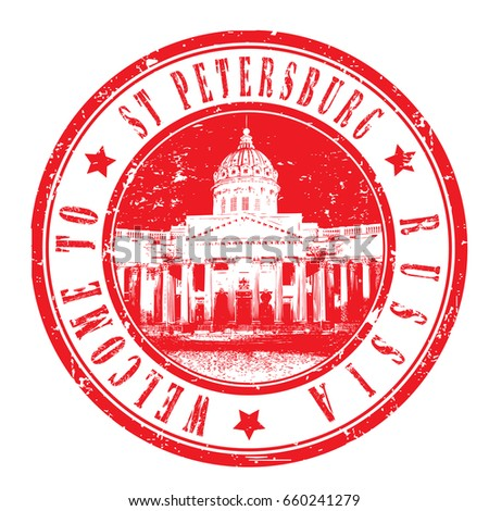 "rubber stamp ""welcome to St.Petersburg, Russia"", vector illustration"
