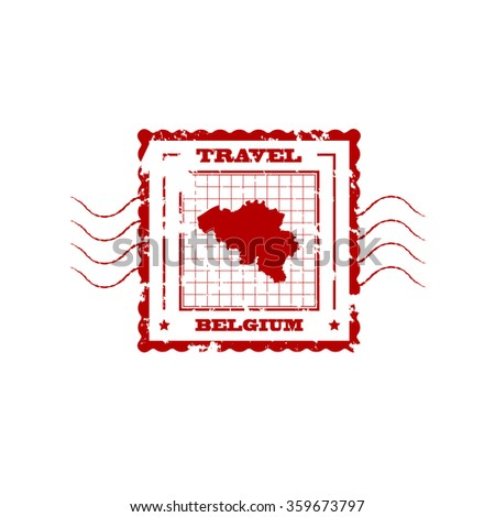 rubber stamp with map of