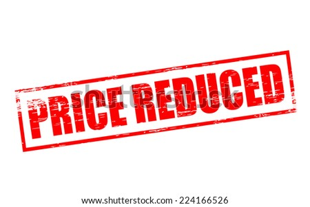 Rubber stamps with text price reduced inside, vector illustration