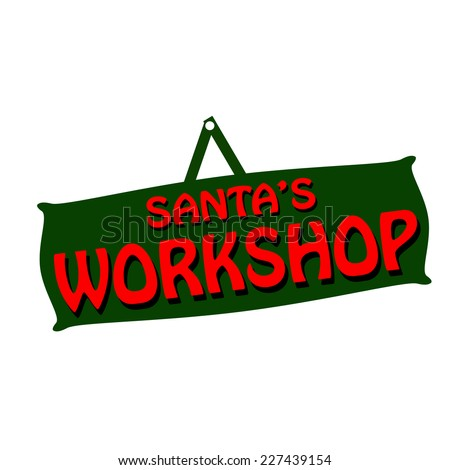 Rubber stamps with text santa workshop inside vector illustration