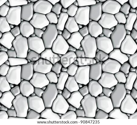 Rubble masonry, seamless vector
