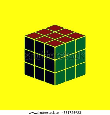 rubik cube vector illustration