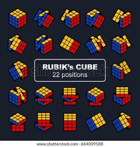 rubik's cube in 22 positions