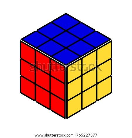 rubik's cube vector