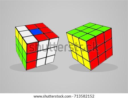 rubik's cube vector illustration