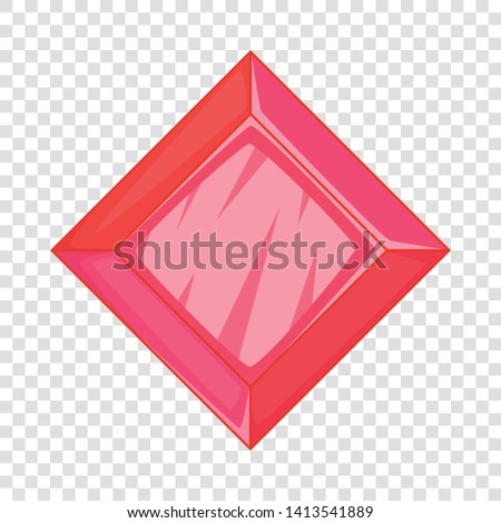 Ruby icon. Cartoon illustration of ruby vector icon for web design