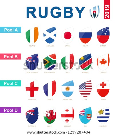 rugby 2019  all pools and flag