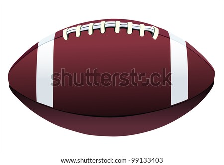 Rugby ball isolated on white background
