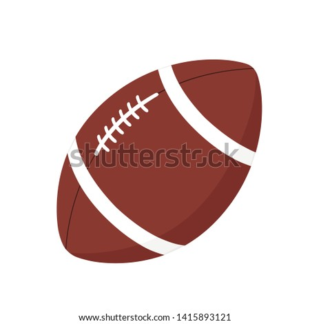 Rugby football ball icon vector illustration isolated eps 10