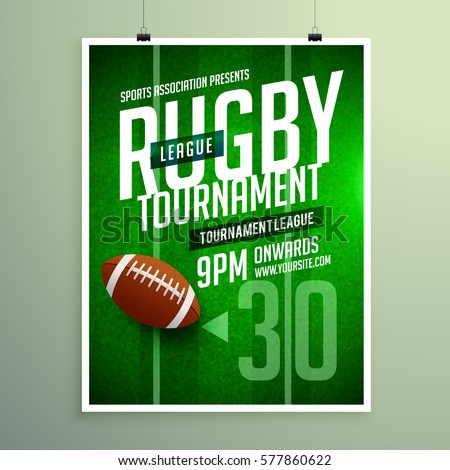 rugby league game flyer design