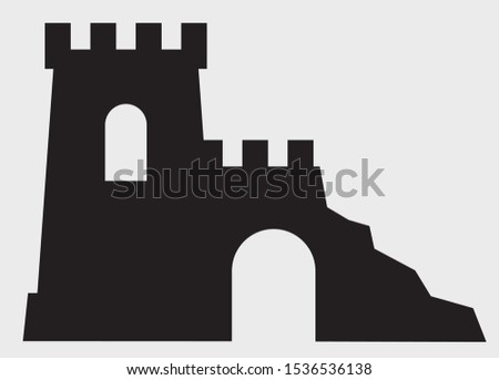 ruins ancient monument vector