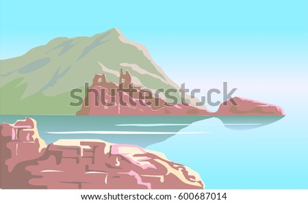 ruins of the ancient castle on