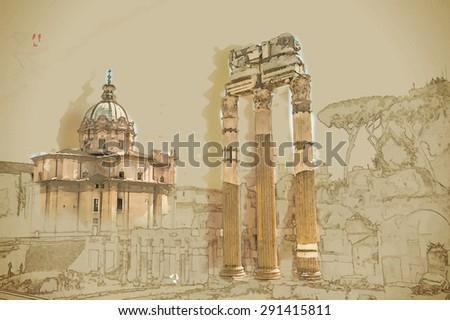 ruins of the roman forum in